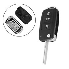 3 Buttons Folding Remote Key Fob Cover for VW Tiguan Golf Sagitar Polo MK6 Cool