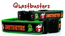 "Ghostbusters dog collar handmade adjustable buckle collar 1""or 5/8""wide or leash"