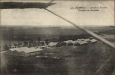 WWI Etampes France Airport Airplanes From Aeroplane c1910 Postcard
