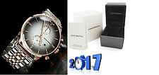 NEW GENUINE EMPORIO ARMANI AR1721 DIAMOND STAINLESS STEEL MENS WATCH