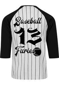 Dragstrip Clothing Original Americana Stripe Baseball top Baseball Furies Print
