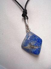 Ciondolo in SODALITE naturale e ARGENTO 925 - pendente pietra dura e girocollo