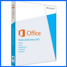 MICROSOFT OFFICE HOME AND BUSINESS 2013 SUITE | SEALED | 2 PC | DVD