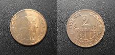III República - 2 céntimos Daniel Dupuis 1911 - F.110/14