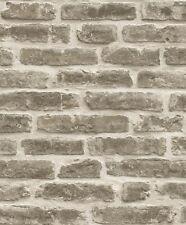 DecorPassion Natural Stone 3D Brick Effect Textured Vinyl Wallpaper (J34407)