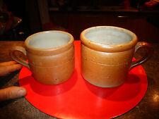 2 Anciens Petits Verseurs à Lait Crème en Grés de Savoie Pichet Cruche Pot