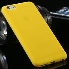 Yellow Ultra Slim Silicone TPU Gel Back Case Cover Skin For iPhone 7