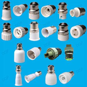 B22 to E14 B15 B22 E27 MR16 GU10 Lamp Adaptor, Light Socket Holder, Converter