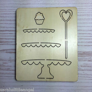 WOODEN DIE CUTTER-CAKE STAND, Use in Sizzix Big Shot, VERY RARE!!!