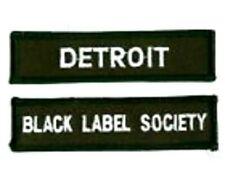 Noir Label Society Detroit Membre Ventilateur Club Patch Ensemble