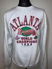 Atlanta Braves Vintage Baseball World Champions 1995 Jumper Sweater Grey XL RARE