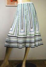 Full Knee-Length Striped Skirts for Women