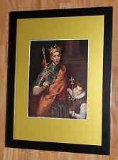"""Incorniciato 12"""" x16"""", El Greco, St. Louis, i comandanti dipinti, BIBBIA DIPINTI"""