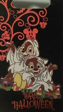 Disney Halloween Chip & Dale Dressed As Ghosts Trick or Treat Pin NEW CUTE