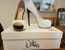 Stiletto Leather Solid Pattern Wittner Heels for Women