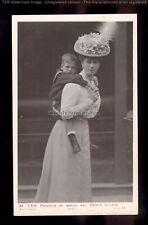 "r3806 - ""Piggyback"" Princess of Wales carries Prince George - No.34 - postcard"