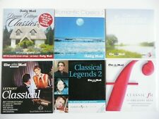 6 x DAILY MAIL CLASSICAL COLLECTION - MINT - 6 CDS - Classic FM BBC3 Romantic