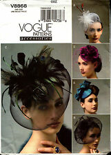 Vogue Sewing Pattern V8868 8868 Ladies Hats Fascinators NEW