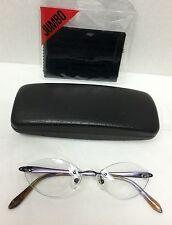 $540 SAMA Couture Purple Croco Titanium RX Rimless Eyeglass Frames 49/17/138