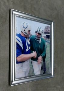 New York Jets Joe Namath Johnny Unitas 8x10 Framed Photo
