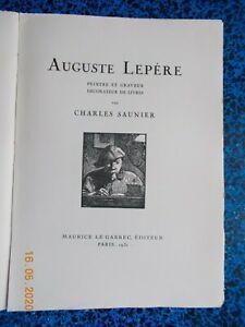 CHARLES SAUNIER AUGUSTE LEPERE  N°487 SUR VELIN LAFUMA 1931 BEAUX BOIS GRAVURES
