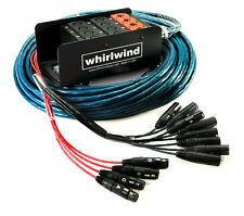 Whirlwind Medusa Audio Snake: 16 microphone inputs, 4 XLR returns, 100 ft