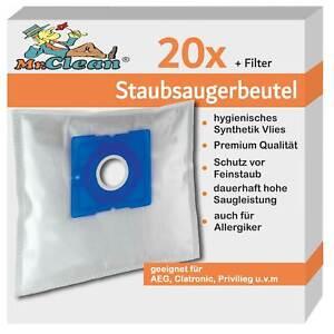 20 Mr.Clean Staubsaugerbeutel geeignet für exquisit BP 6101 wes + sw