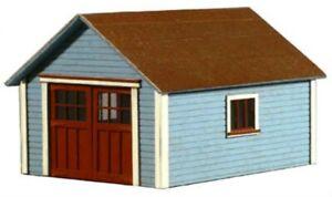 "HO Scale - One Car Garage/Shed  ""LASER CUT WOOD Building KIT"" AME-796"