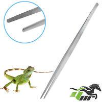 """YNR® 18"""" Stainless Steel Tweezers Snake Lizard Feeding Tongs Reptile Straight"""