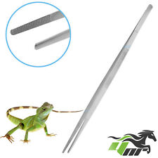 "YNR® 18"" Stainless Steel Tweezers Snake Lizard Feeding Tongs Reptile Straight"