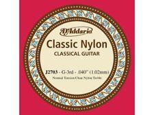 Corda singola per chitarra classica (SOL - G) D'Addario 040 - Normal Tension