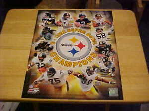 Steelers 6-Time Super Bowl Champions LICENSED 11X14 Photo Includes Top Loader