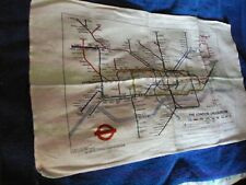 Unused Vintage 1980s London Transport tea towel with tube map pre-87 Circle Line