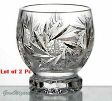 Russian European Cut Crystal Tumbler Glasses 7oz 200 ml-Scotch,whisky set of 2