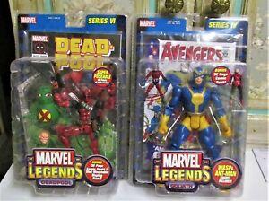 Lot of 2 Marvel Legends: Deadpool Series VI + Goliath IV--NIB