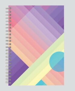 NOTEPAD A5 SHADES & SHAPES TWIN WIRE SOFTCOVER NOTEBOOK 160 PAGE/70 SHEET