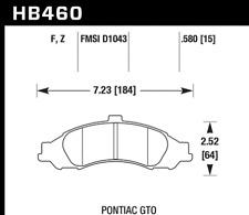 Hawk Disc Front Brake Pad for 2004 Pontiac GTO # HB460F.580
