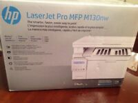 New! HP LaserJet Pro M130nw All-in-One Wireless Laser Printer (G3Q58A)