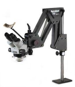 Meiji EMZ-5 MICROSCOPE w/ GRS® Tools ACROBAT STAND & OPTIA LED LIGHT 003-563NFB