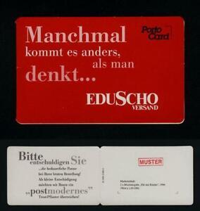"... seltene Portocard - Eduscho  mit Stempel  ""MUSTER"""