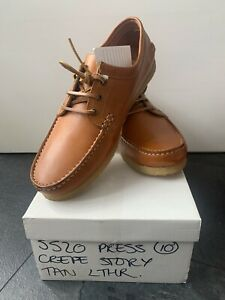 Tan Leather Deck Shoes With Gum Sole