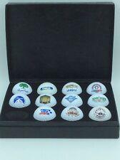 Spalding box of custom Golf Balls - 11 Golf Balls with Big names + 1 Magnet