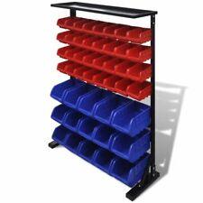 Garage opbergrek (Blauw en Rood) opberg rek met vakjes bakjes organiser
