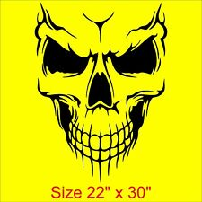 LARGE SKULL Vinyl Decal Sticker Decor Graphics BIG ( 16 colors / ANY size ) CH10