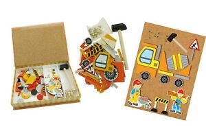 NEW Kaper Kidz - Tap A Shape Wooden Construction Truck Tap Kids Activity Playset