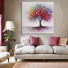 Colorful Tree Abstract Picture Canvas Print Paintings Room Wall Art Decor Framed