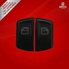 2X Main Window Switch Button Cover Front Left For Mercedes 06125-3.8-06125-3.9