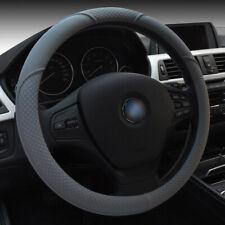 Universal 15''/38cm Gray Car Steering Wheel Cover Microfiber Soft Anti-Slip Grip