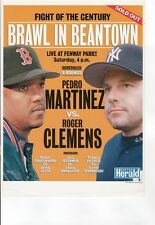 Roger Clemens Vs Pedro Martinize Game Poster  Boston Red Sox New York Yankees