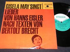 """GISELA MAY SINGT LIEDER VON HANNS EISLER... / DDR 10""""EP 1965 ETERNA 720164"""
